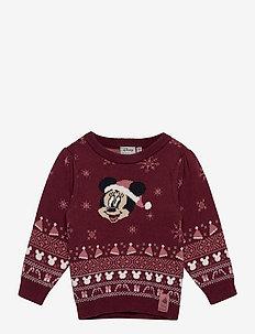Knit Pullover Minnie - trøjer - burgundy
