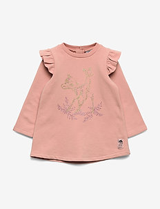 Sweat Dress Bambi - long-sleeved t-shirts - misty rose