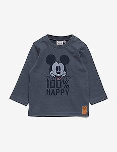 T-Shirt Mickey 100% - long-sleeved t-shirts - greyblue