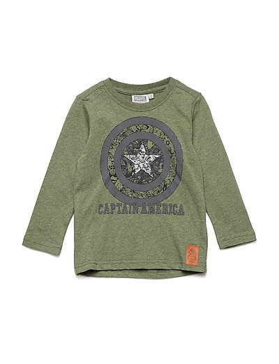 T-Shirt Captain America Circle - ARMY MELANGE