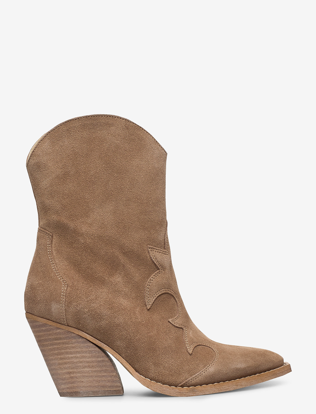 RE:DESIGNED EST 2003 - Remsy Suede - ankle boots with heel - taupe - 1