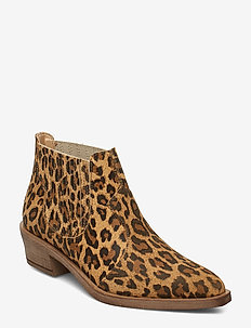 Tory Suede - ankle boots with heel - leopard