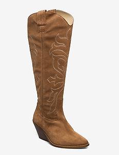 Darla Suede - long boots - cognac