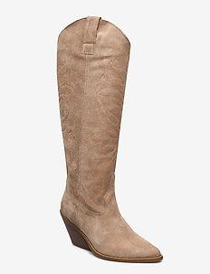 Darla Suede - long boots - mushroom