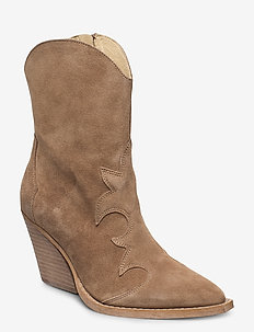 Remsy Suede - ankle boots with heel - taupe