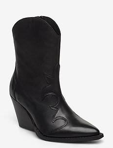 Remsy - ankle boots with heel - black