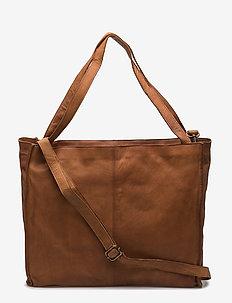 Aro - handbags - cognac