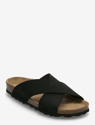 Nala - platta sandaler - black