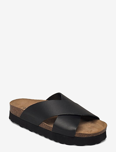 Vina - platta sandaler - black