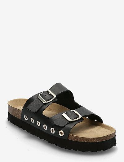 Suzy - platta sandaler - black