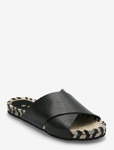 Abbi - platta sandaler - black
