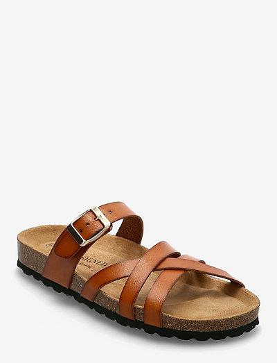 Bala - platta sandaler - cognac