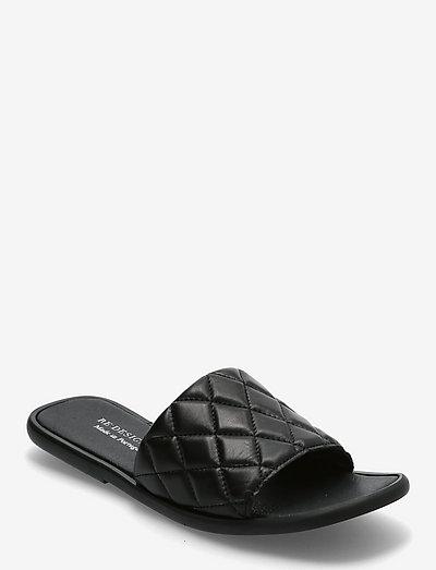 Nadja - platta sandaler - black