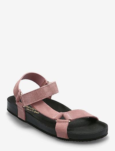 Bibbi - platta sandaler - rose