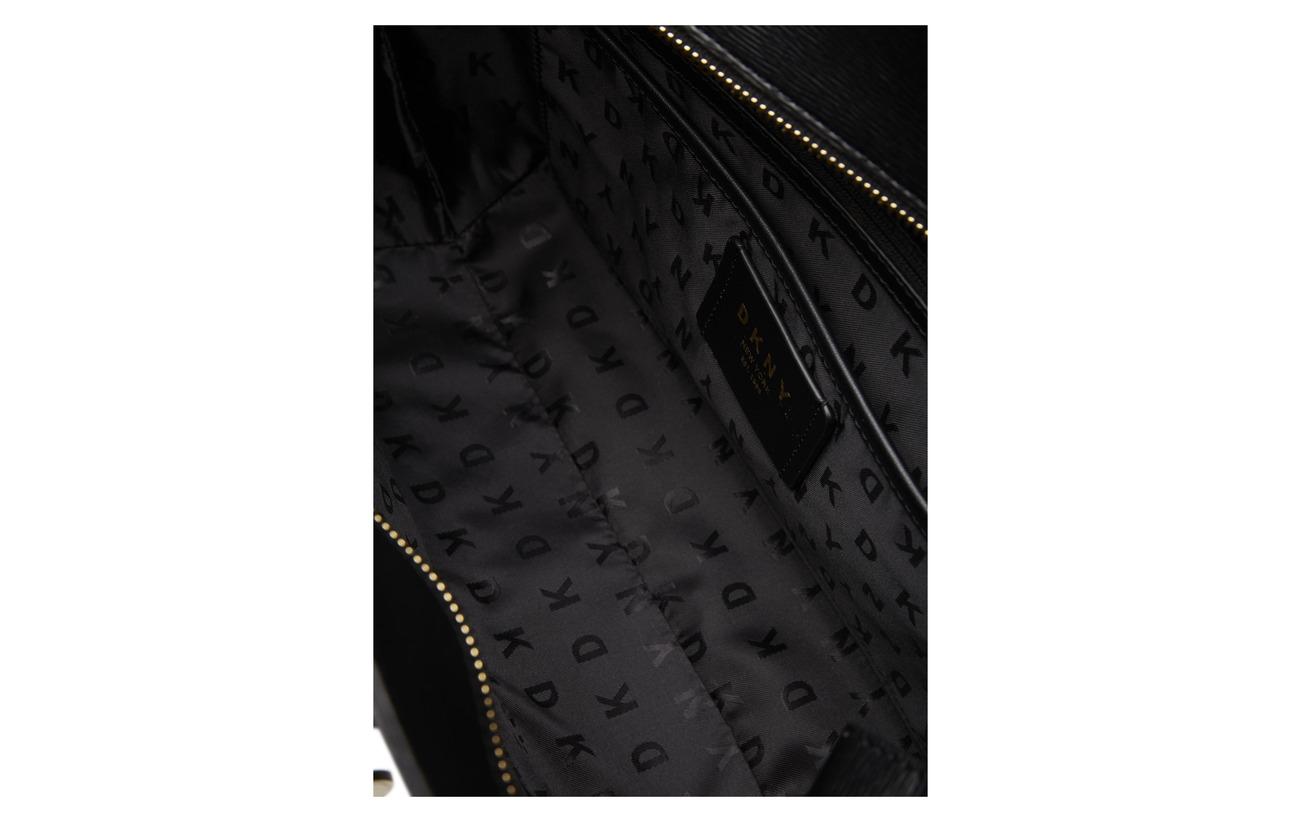 Medium Bryant Peau Doublure 100 Vache Bordure Tote Textile De Dkny Bags gold Détails Équipement Polyurethane Intérieure Blk UgwESqx