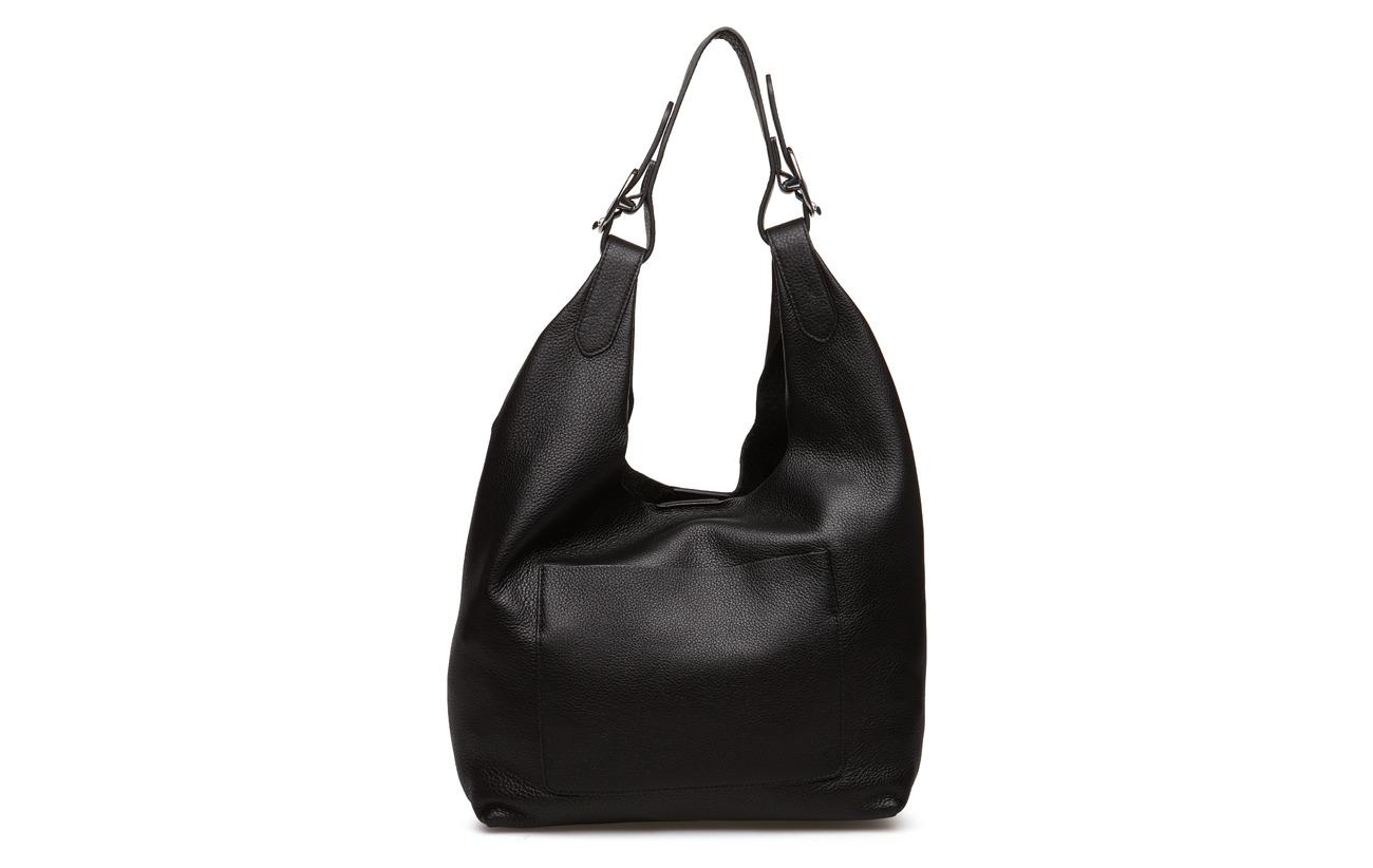 Wes Vache Dkny De Hobo Med 100 Équipement Black Doublure Bags Peau Textile silver Intérieure 55qrWO7