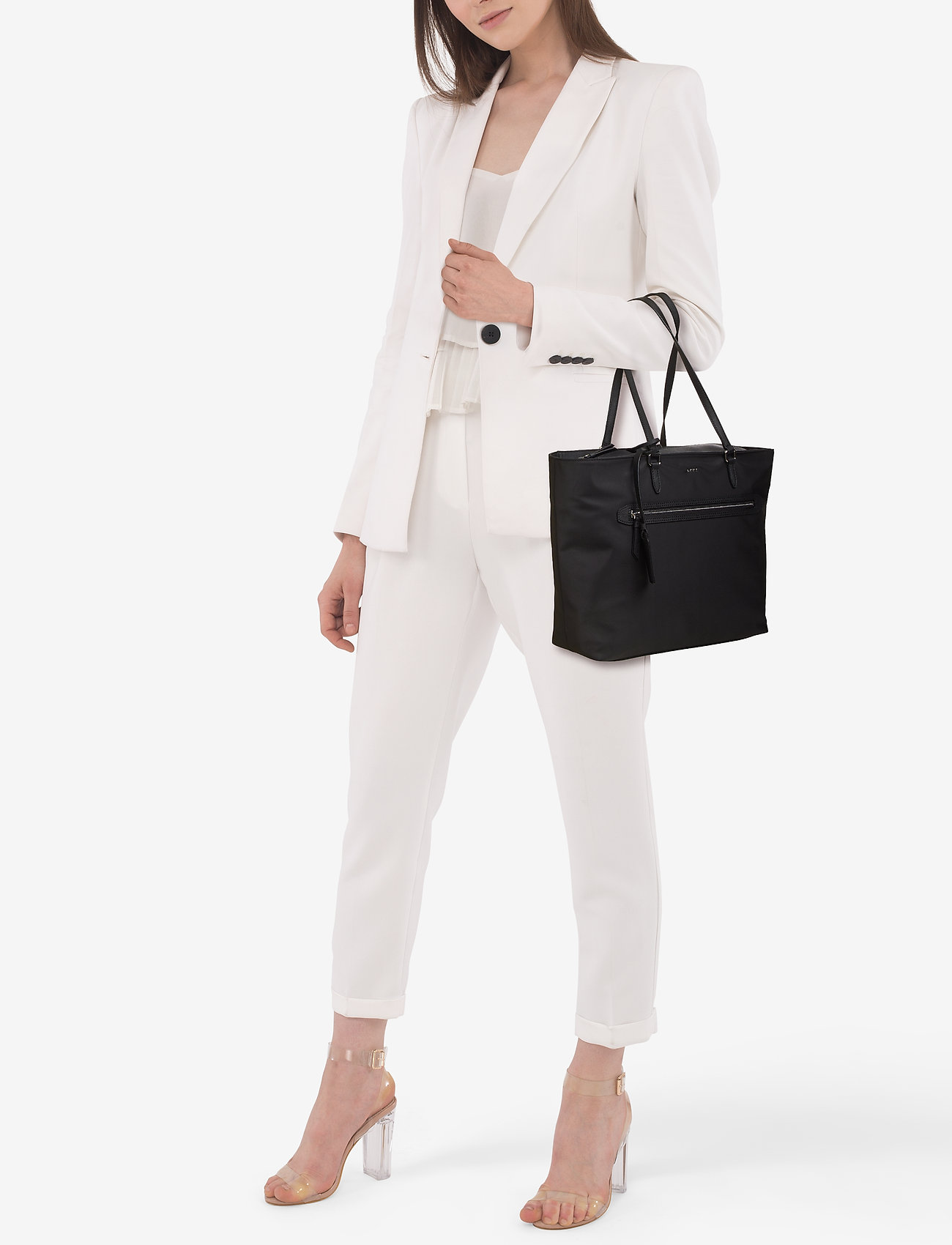 DKNY Bags CASEY- LARGE TOTE - BLACK/SILVER