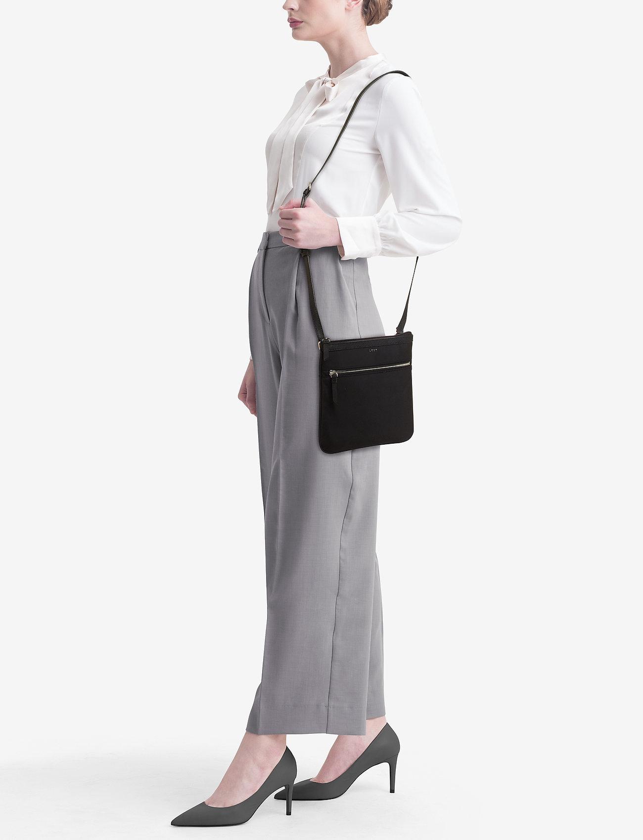 DKNY Bags CASEY-TOP ZIP CBODY - BLACK/SILVER