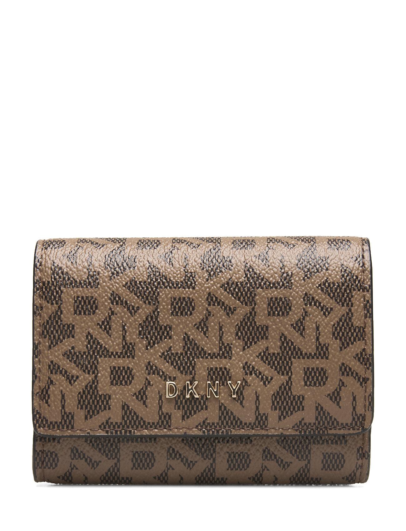 DKNY Bags SLG-LOGO PVC - MOCHA/CRML