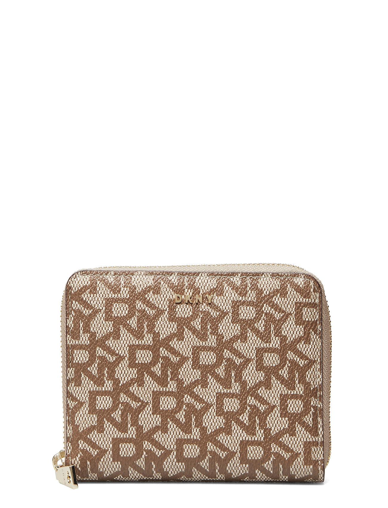 DKNY Bryant- Sm Zip Aroun Bags Card Holders & Wallets Wallets Beige DKNY BAGS