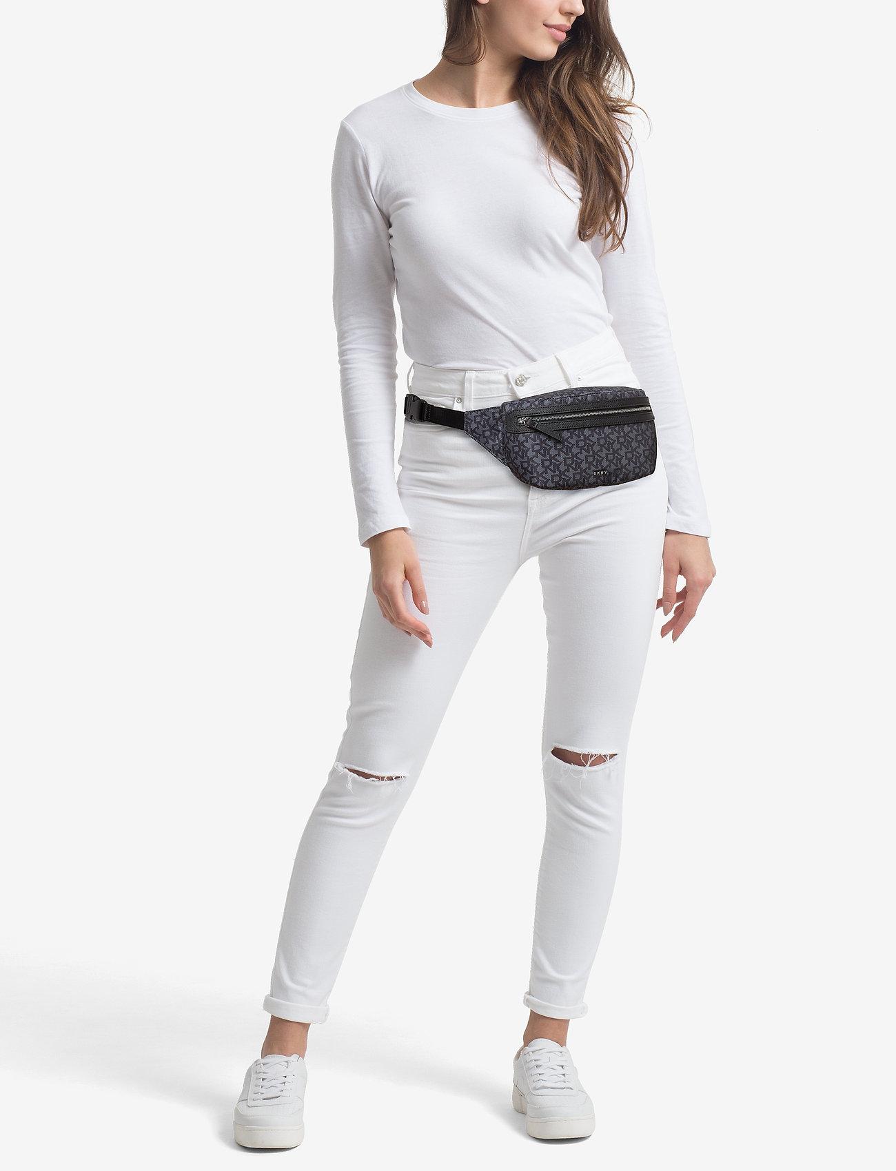 DKNY Bags CASEY-BELT BAG-T&C L - BK LOGO-BK