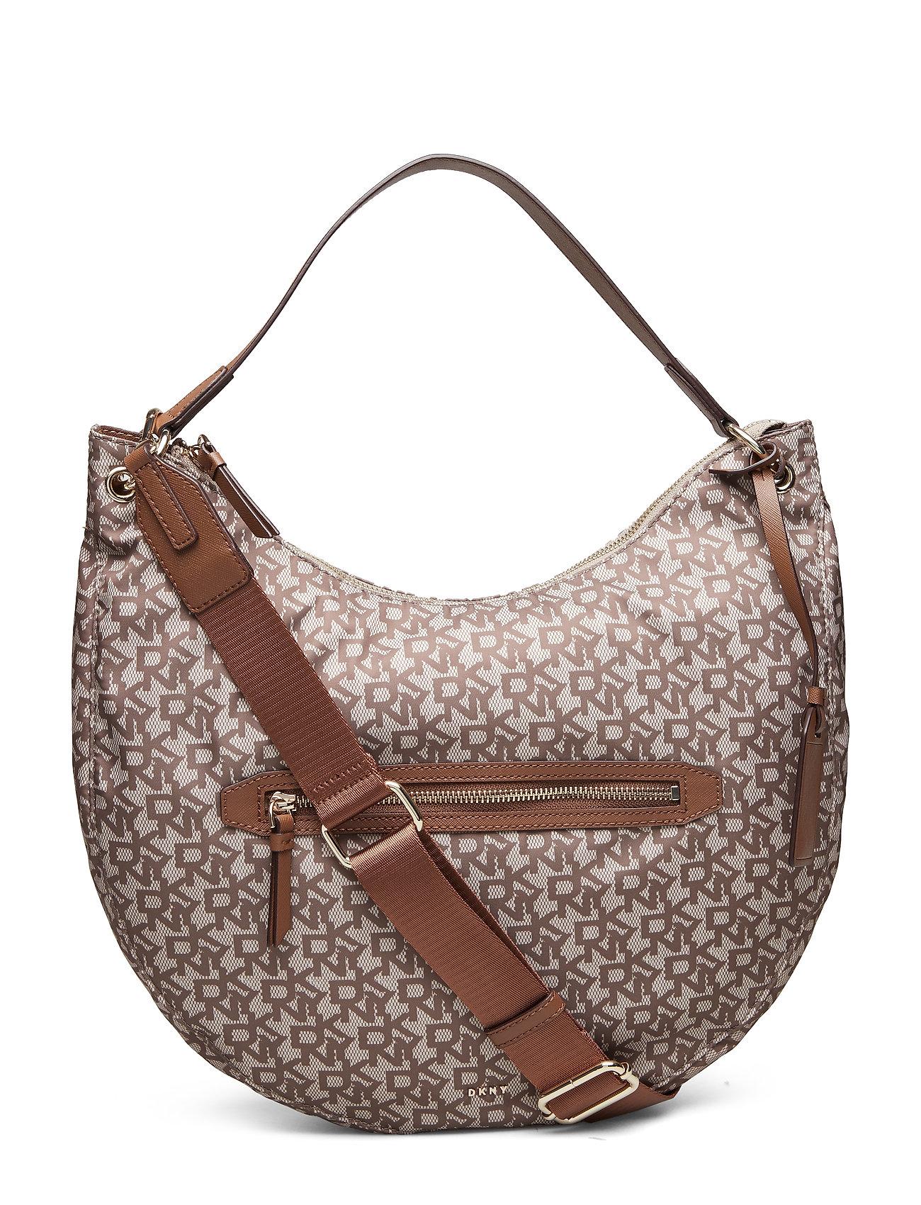 DKNY Casey-Hobo-Logo Bags Top Handle Bags Braun DKNY BAGS