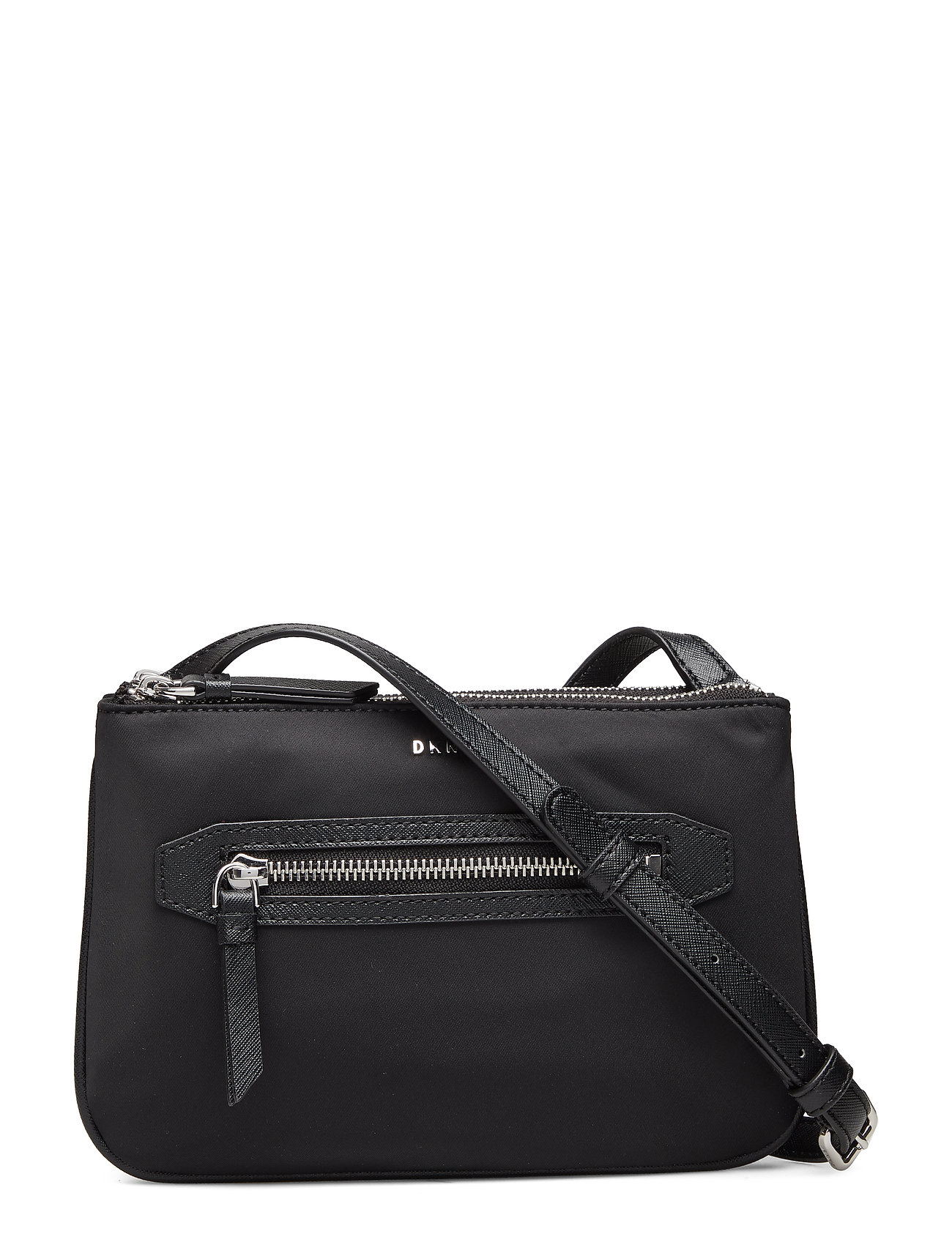 DKNY Casey-Dbl Pouch Cbod Bags Small Shoulder Bags/crossbody Bags Schwarz DKNY BAGS