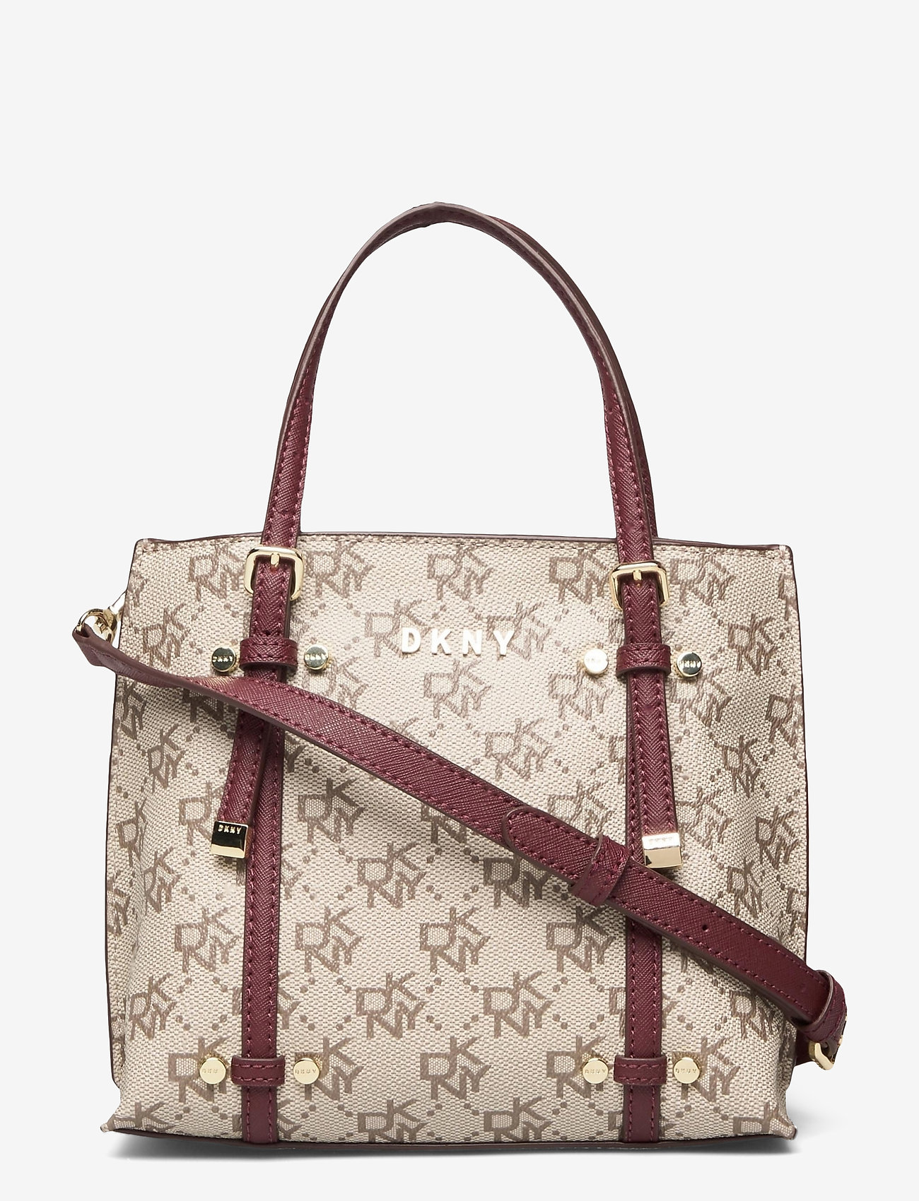 DKNY Bags - BO MINI CROSSBODY - handväskor - qs3 - khk/agd wine - 0