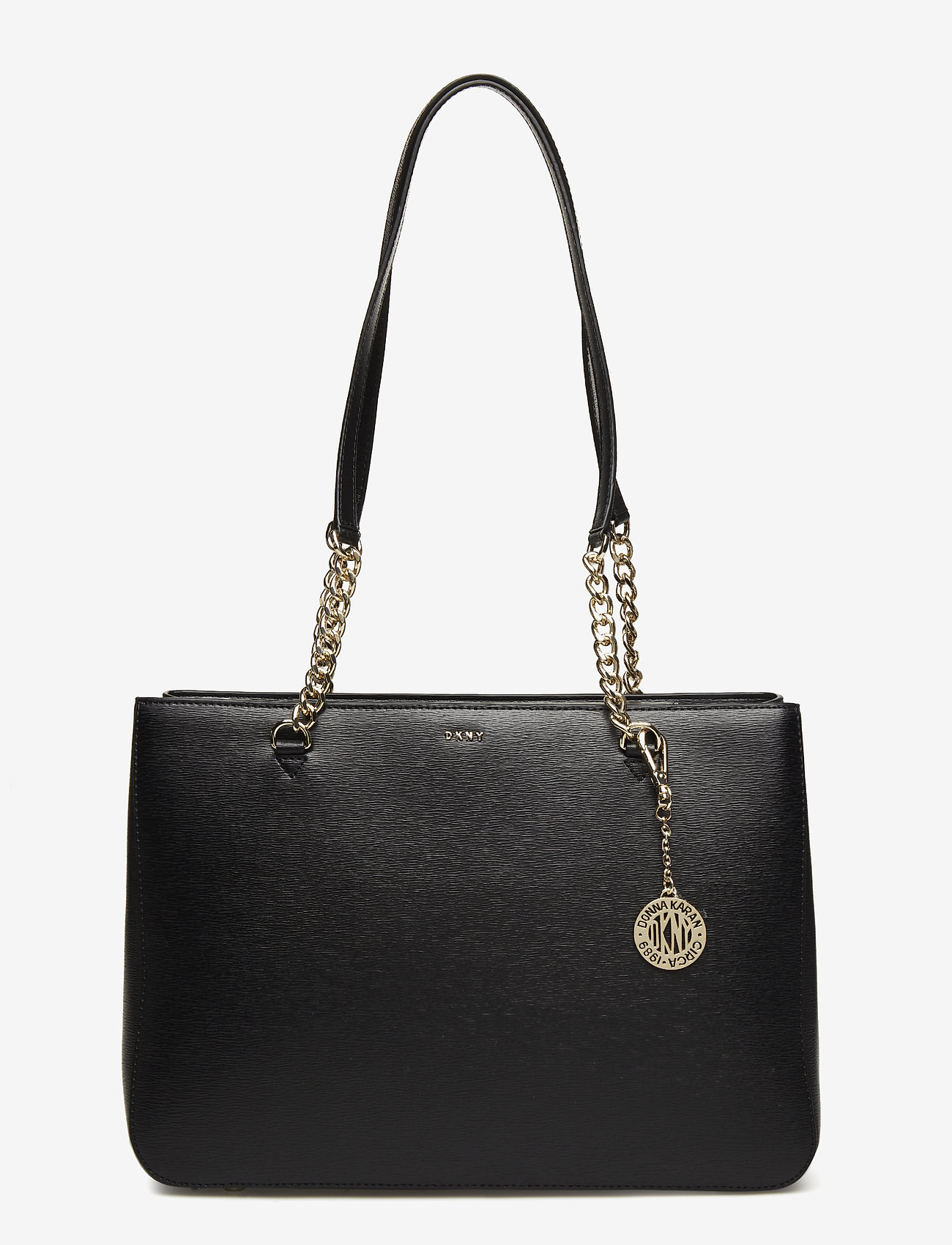 DKNY Bags - BRYANT LG SHPPR TOTE - fashion shoppers - blk/gold