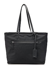 CASEY- LARGE TOTE - BLACK/SILVER