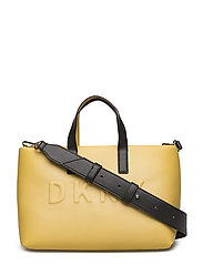 TILLY- SM ZIP TOTE - YELLOW/BLK