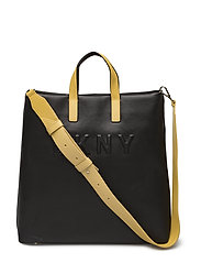 TILLY- LG TOTE - BLACK/YELLOW