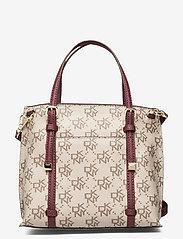 DKNY Bags - BO MINI CROSSBODY - handväskor - qs3 - khk/agd wine - 1