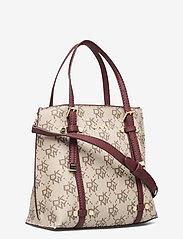 DKNY Bags - BO MINI CROSSBODY - handväskor - qs3 - khk/agd wine - 2