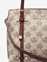 DKNY Bags - BO MINI CROSSBODY - handväskor - qs3 - khk/agd wine - 3