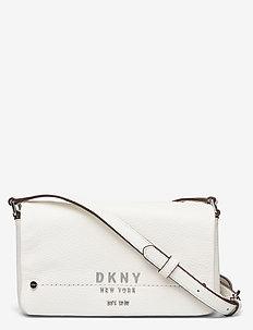 ERIN-SM FLAP CBODY - shoulder bags - white