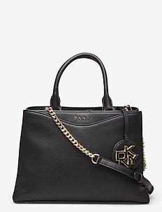 DAYNA NAPPA - handbags - blk/gold