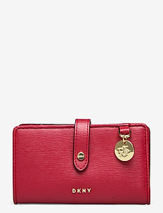 POLLY SM BIFOLD WALL - wallets - bright red