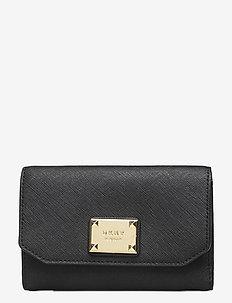 PEARL SM ENVELOPE FL - wallets - blk/gold