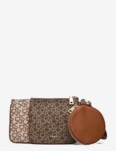 TRIPLE POUCH - wallets - mocha