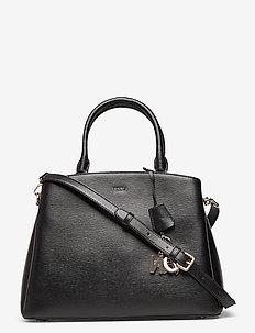 PAIGE- LG SATCHEL - handbags - blk/gold
