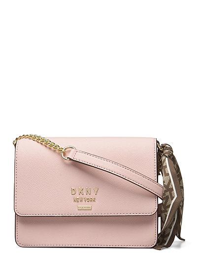 Liza-Sm Shoulder Flp Bags Small Shoulder Bags - Crossbody Bags Pink DKNY BAGS