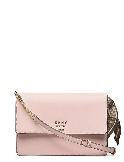 Liza-Md Shoulder Flp Bags Small Shoulder Bags - Crossbody Bags Pink DKNY BAGS