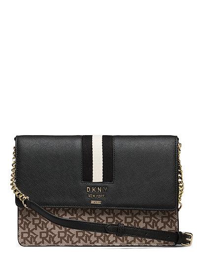 Liza-Md Shoulder Flp Bags Small Shoulder Bags - Crossbody Bags Schwarz DKNY BAGS