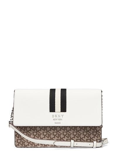Liza-Md Shoulder Flp Bags Small Shoulder Bags - Crossbody Bags Creme DKNY BAGS