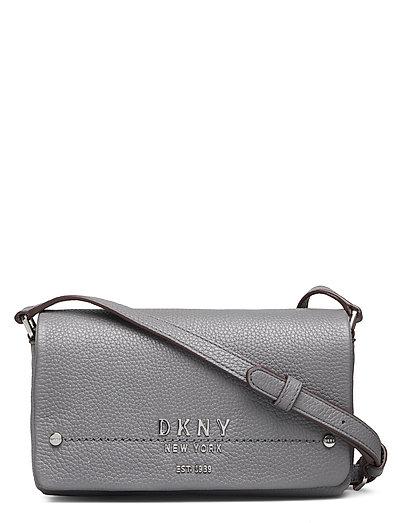Erin-Sm Flap Cbody Bags Small Shoulder Bags - Crossbody Bags Grau DKNY BAGS