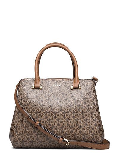 Triple Comp Satchel Bags Top Handle Bags Braun DKNY BAGS