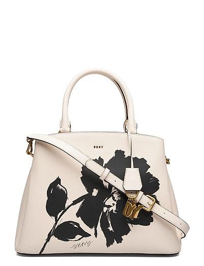 Paige-Lg Satchel-Flo Bags Top Handle Bags Creme DKNY BAGS