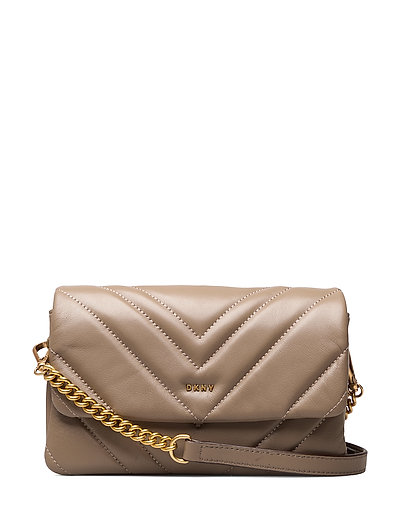 Vivian-Dbl Sm Cbody Bags Small Shoulder Bags - Crossbody Bags Beige DKNY BAGS