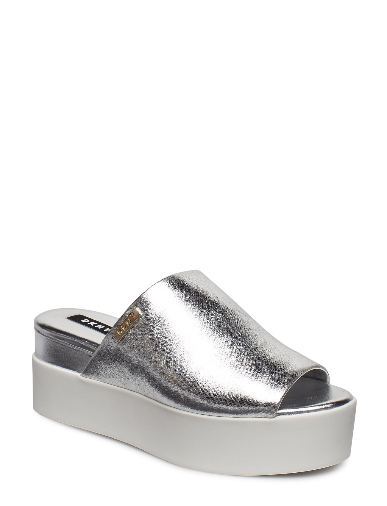 buy online 32b43 b3d46 35% Sale Carli Flache Sandalen Silber DKNY | foccz.com